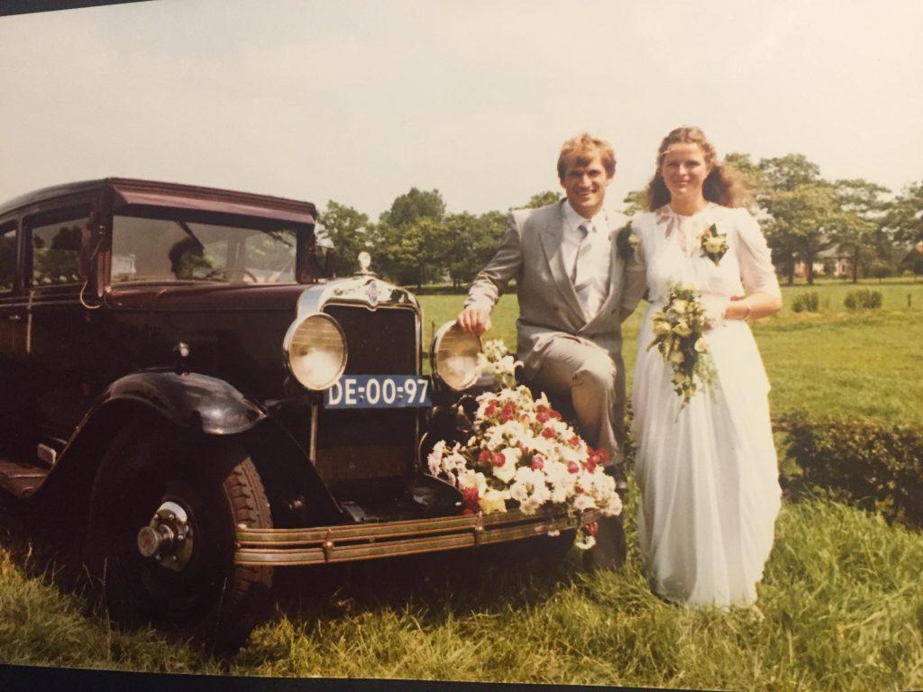 1985 Herman Schukkert & Jeannette Ensing trouwen